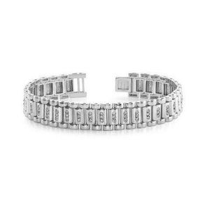 Jewelry - 3.5 Carats F-VS2 round cut diamond mens bracelet w